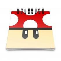Bloco de Anotações - Cogumelo Vermelho - L3 store