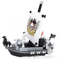 Bloco de Montar 129 Peças Piratas Navio - Xalingo