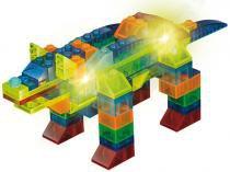 Bloco de Montar 99 Peças Light Blocks Animais - Xalingo