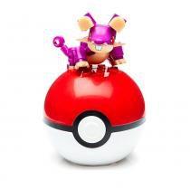 Bloco de Montar - Mega Construx - Pokémon - Pokebola - Rattata - Mattel -