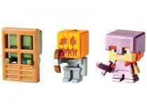 Bloco de Montar Pack 3 Figuras Minecraft - Mattel