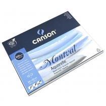 Bloco de Papel Aquarela Canson - Montval Textura Fina 300g/m² A4+ 24x32 cm com 12 Folhas 60807319 -