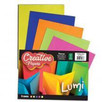 Bloco de Papel Creative Papers Lumi 5 Cores 40 Folhas 75g Foroni -