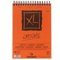 Bloco Espiralado Canson XL Croquis 90g/m² A4 21 x 29,7 cm com 120 Folhas  200787103 -