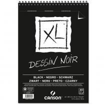 Bloco Espiralado Canson XL Dessin Noir Black 150g/m² A3 29,7 x 42 cm com 40 Folhas  400039087 -