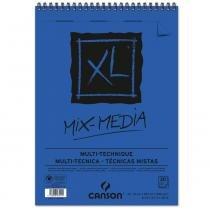 Bloco espiralado canson xl mix media 300g/m² a4 21 x 29,7 cm com 30 folhas  200807215 -
