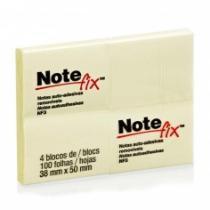 Bloco Note Fix Nf3 100 Folhas 38x50mm 4 Unidades Amarelo 3m - 1