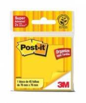 Bloco Post It 76x76mm 45 Folhas Amarelo Neon 653 3m - 952370