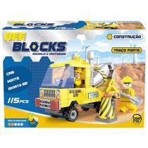 Blocos de Montar 115 Peças Bee Blocks - Traço Forte 1979 Bee Me Toys