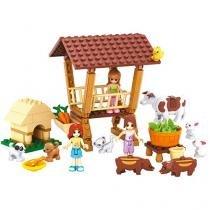 Blocos de Montar 150 Peças Bee Blocks - Sítio da Alegria - Cidade Fashion Bee Me Toys