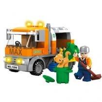 Blocos de Montar 167 Peças Bee Blocks - Caminhão de Lixo 2728 BeeMe Toys