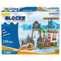 Blocos de Montar 171 Peças Bee Blocks - Ilha do Esqueleto Bee Me Toys