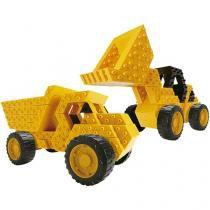 Blocos de Montar 204 Peças Sem Limite  - Super Máquinas Roma Brinquedos