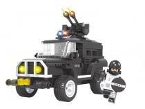 Blocos de Montar 206 Peças Bee Blocks - Veículo Tático 2725 BeeMe Toys