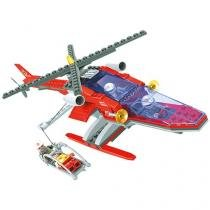 Blocos de Montar 208 Peças  - Bee Blocks Helicóptero Anjo - Bee Me Toys