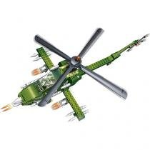 Blocos de Montar 231 Peças - Força Tática Helicóptero Apache 8238 BanBao