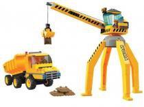 Blocos de Montar 238 Peças - Cidade em Obras Guindaste e Caminhão 6065 Xalingo