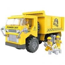 Blocos de Montar 264 Peças Bee Blocks - Power 20T - Cidades - Bee Me Toys