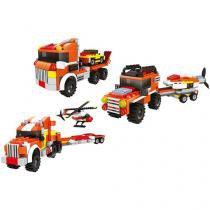 Blocos de Montar 311 Peças Bee Blocks - 3 em 1 Equipe Alpha - Bee Me Toys