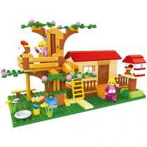 Blocos de Montar 319 Peças Bee Blocks - Casinha da Fazenda - Bee Me Toys