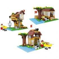 Blocos de Montar 384 Peças Bee Blocks - 3 em 1 Super Aventura na Árvore - Bee Me Toys