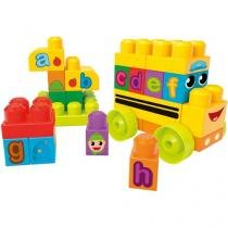 Blocos de Montar 44 Peças Mega Bloks First Blocks Ônibus DBK84 Mattel