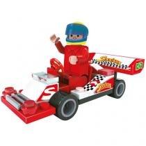 Blocos de Montar 46 Peças Bee Blocks - Kart do Senninha 2731 BeeMe Toys