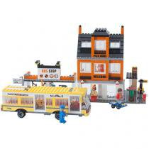 Blocos de Montar 546 Peças Bee Blocks - Terminal de Ônibus 1966 Bee Me Toys