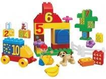 Blocos de Montar 60 Peças Big Blocks Sítio Escolar - 2611 BeeMe Toys