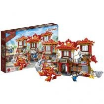 Blocos de Montar 805 Peças - Dinastia Tang Castelo Dragão 6601 BanBao