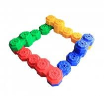 Blocos de montar gigantes com 24 peças playground barzi - Barzi