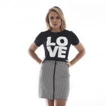 66f4f8477e Blusa t-shirt love pelucia preto - Previewtrend