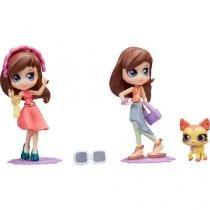 Blythe Super Estilosa Vestido Rosa e Azul - Littlelest Pet Shop com Acessórios Hasbro
