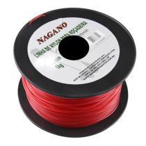 Bobina de fio de nylon redondo 2,0 mm 1 kg - para roçadeira - Nagano