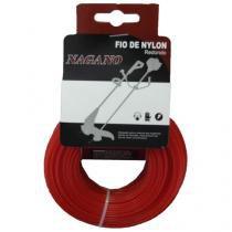 Bobina de Fio de nylon redondo 2,0 mm 100 gramas - para roçadeira - Nagano