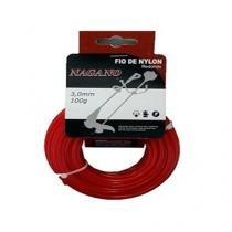 Bobina de Fio de nylon redondo 3,0 mm 100 gramas - para roçadeira - Nagano
