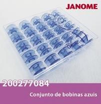 Bobinas janome 25 bobinas na cor azul - Janome