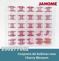 Bobinas janome 25 bobinas na cor rosa - Janome
