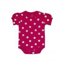 2fe973a9a91 Body bebê menina manga curta com bolinhas branca - Babyhood