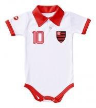Body Flamengo Polo Branco Torcida Baby - ff273cf6843b8