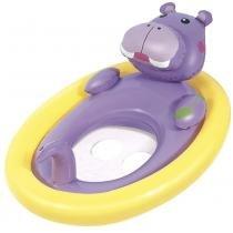 Boia inflável oval com fralda bichinhos mor - hipopótamo -