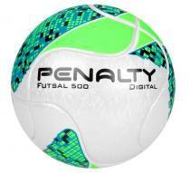 9906e3bc3b Bola de Futsal 500 Digital Termotec Oficial Verde Branco - Penalty -