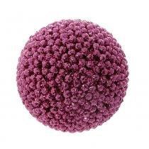 Bola de Natal P/ Pendurar Árvore Natal 6 pçs 6Cm Rosa - Cromus