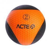 Bola de Peso Medicine Ball 2KG Laranja ACTE T102 - Acte sports