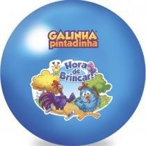 Bola Infantil em Vinil Galinha Pintadinha Azul 2003 - Lider - Lider Brinquedos