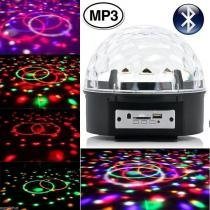 Bola maluca led rgb mp3 bluetooth projetor holográfico magic ball light wmtds2745 - Wmt