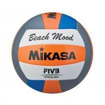42c5f46ea586f Bola Para Volei De Praia Mikasa VXS-BMD-O Laranja Azul E Branca -