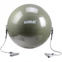 Bola Suíça para Pilates LIVEUP LS3227 65 CM com Extensores - LIVEUP