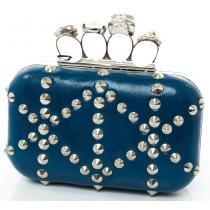 Bolsa azul caveira e pedras - Authoria