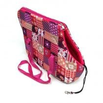 Bolsa de Transporte Colagem Rosa Tamanho P - Gaby modas